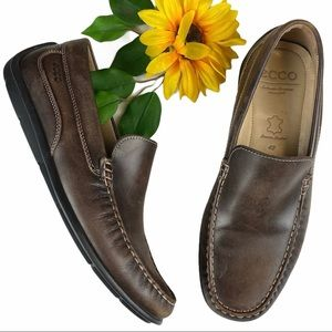 Ecco Driving Moccasins Comfort Loafers shoes